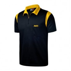 One80 - Polo Shirt - Black with Yellow Stripes